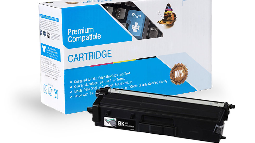 Brother TN433BK High Yield Compatible Toner- Black