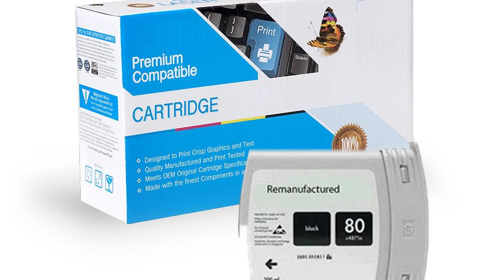 HP Remanufactured Ink Cart C4871A (#80)