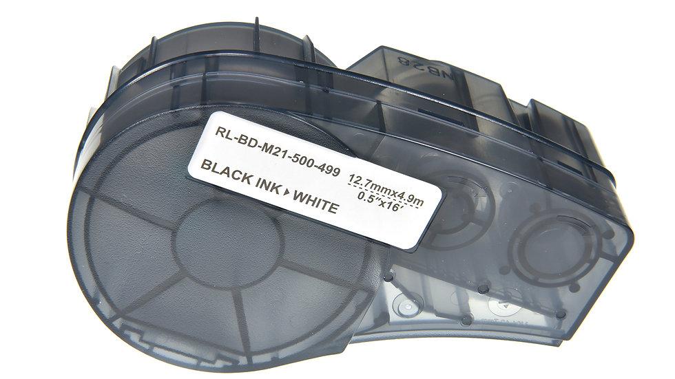 Brady M21-500-499 Comp. Label Cartridge- Black on White
