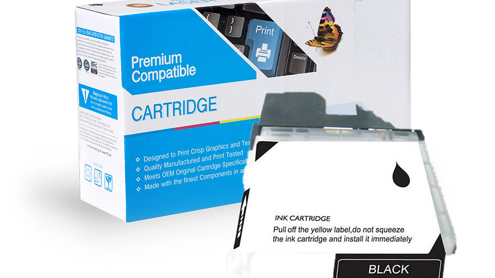 Brother Compatible Ink Cart LC65BK