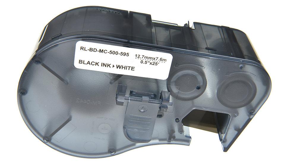 Brady MC-500-595-WT-BK Comp. Label Cartridge- Black on White