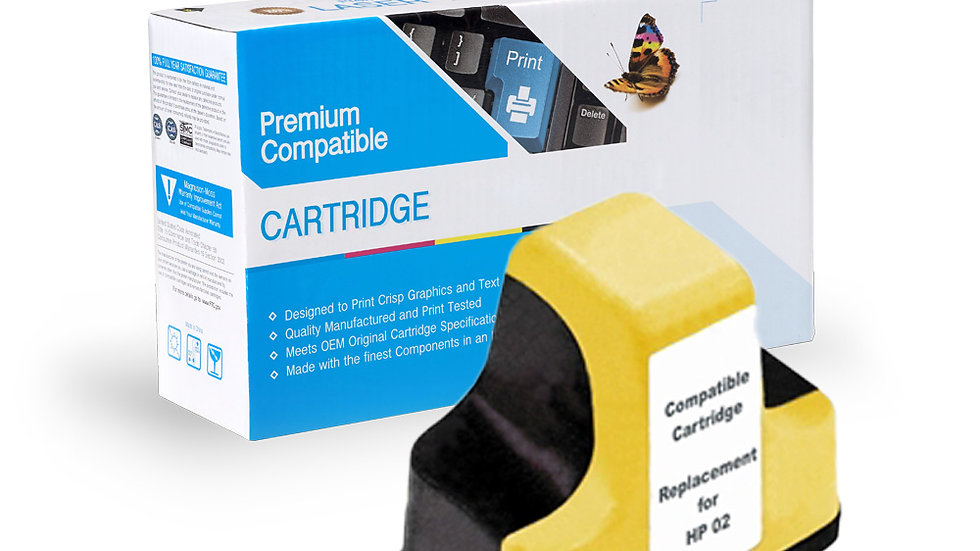 HP Remanufactured Ink Cart C8773WN, HP 02 Yellow