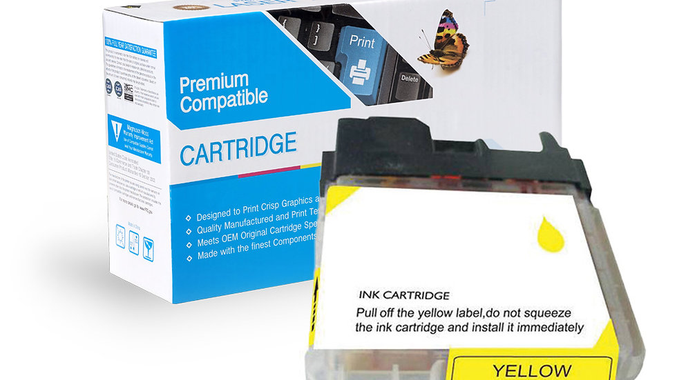 Brother Compatible Ink Cart LC65Y
