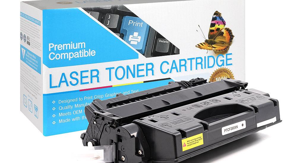 HP CF280X, 80X Compatible Toner- Black