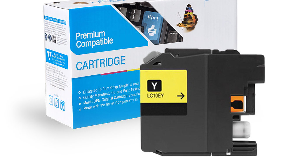 Brother LC10EY Compat Super High Yield Yellow Ink Cartridge