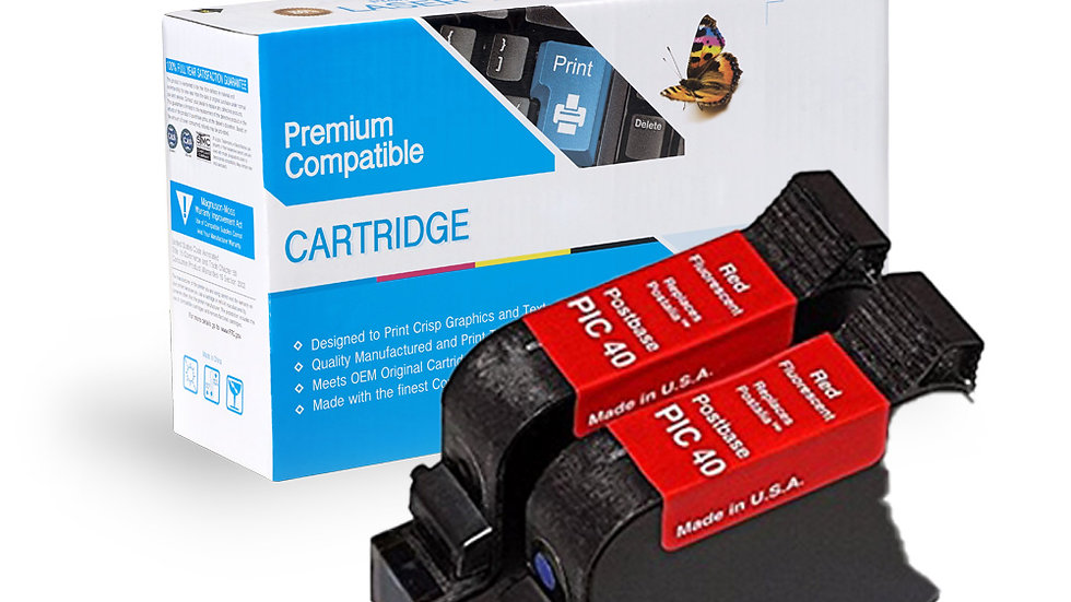 Francotyp-Postalia PIC40 High Capacity Inkjet (2-Pack)- Red