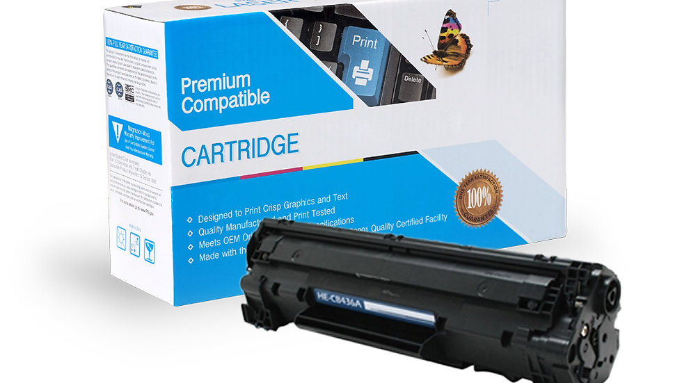 HP CB436A Compatible Black Toner Cartridge Jumbo