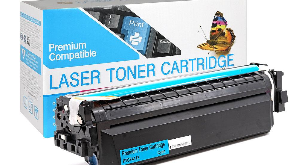HP CF411X, 410X High Yield Compatible Toner- Cyan