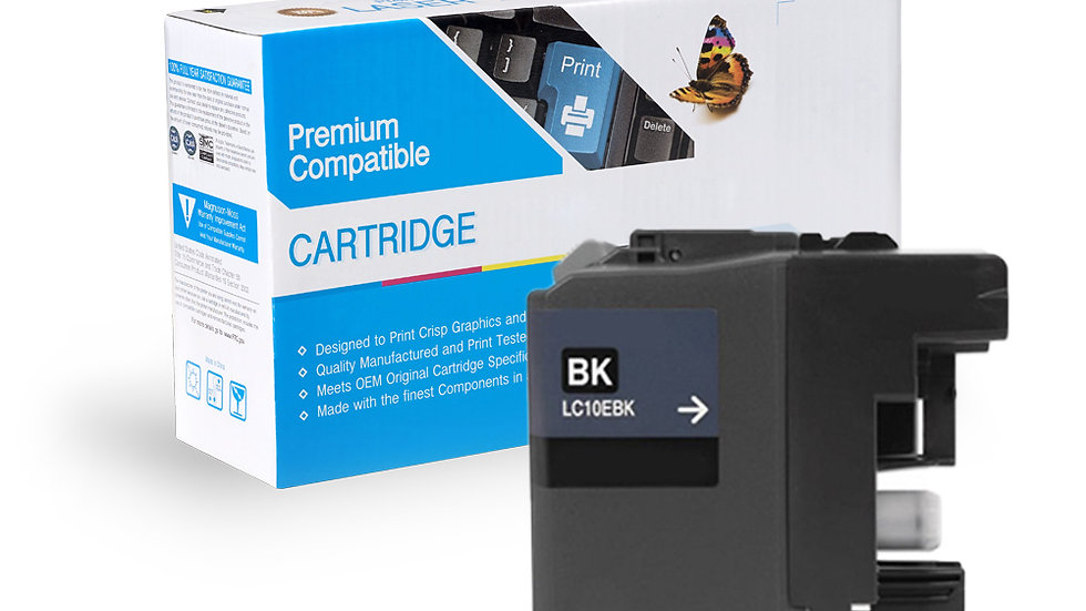 Brother LC10EBK Compat Super High Yield Black Ink Cartridge