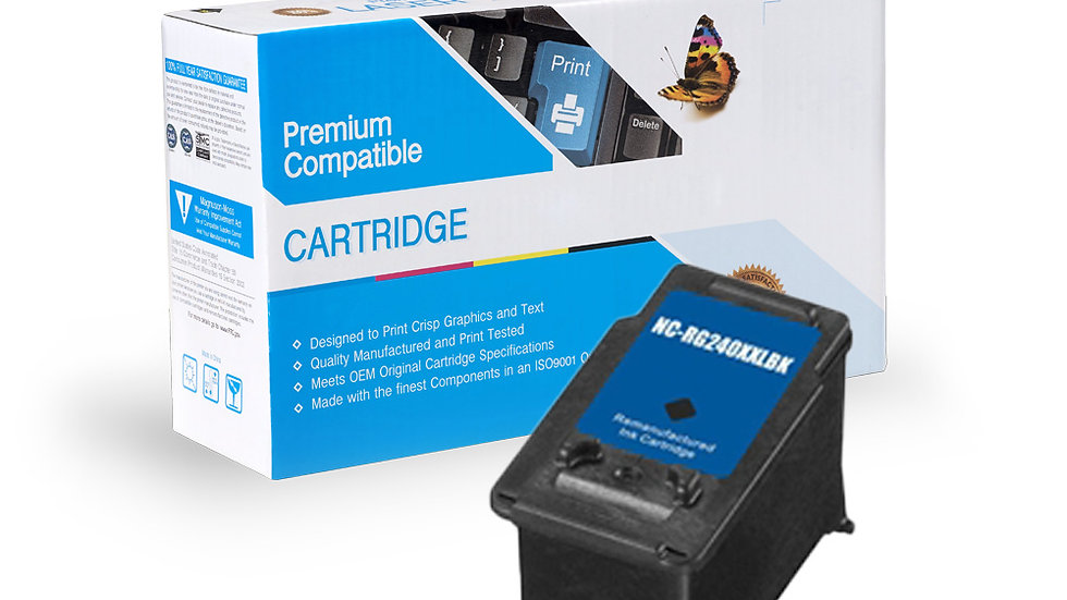 Canon Remanufactured Ink Cart PG-240XXL Black