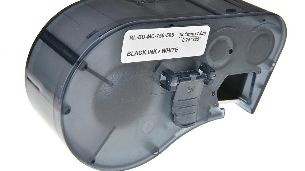 Brady MC-750-595-WT-BK Comp. Label Cartridge- Black on White