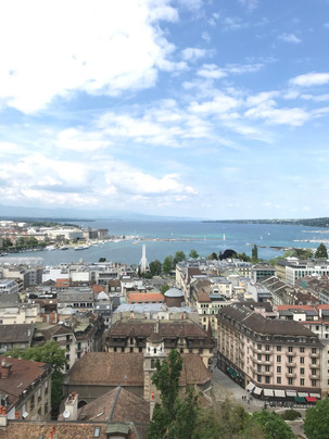 Overlooking Geneva from the St. Pierre Cathedral tower