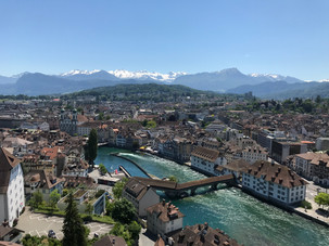 Lucerne from a tower in the old city wall