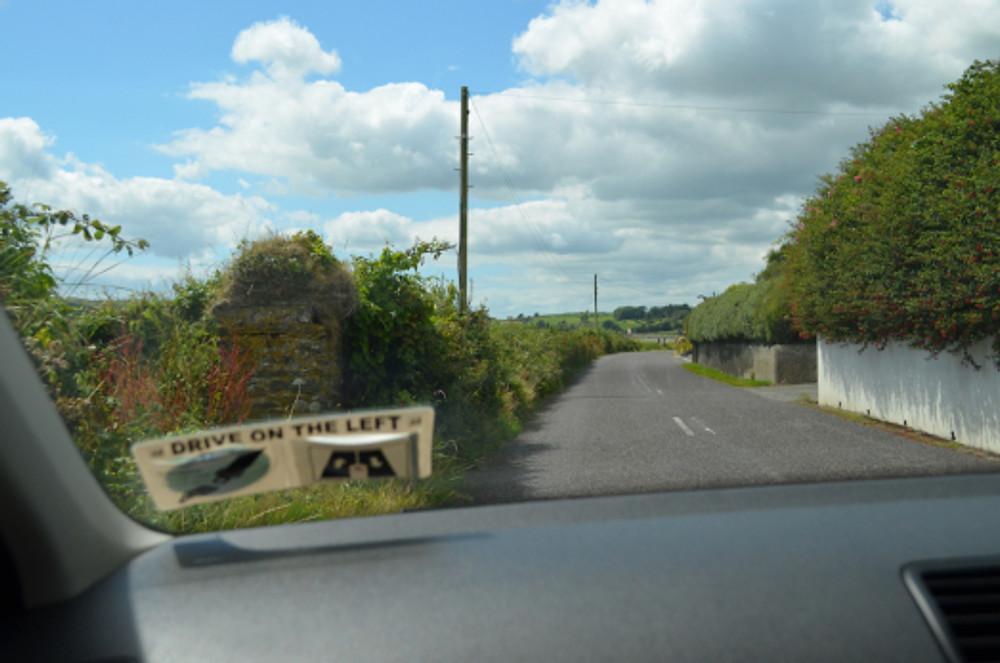 Narrow road example - on the way to Clonakilty