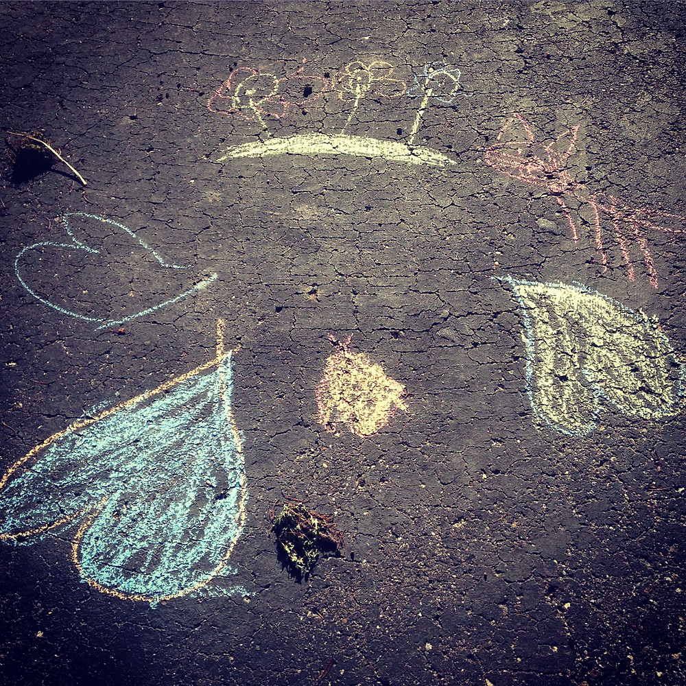 sidewalk chalk drawings