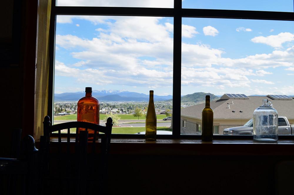 Butte Breweing Company windowsill