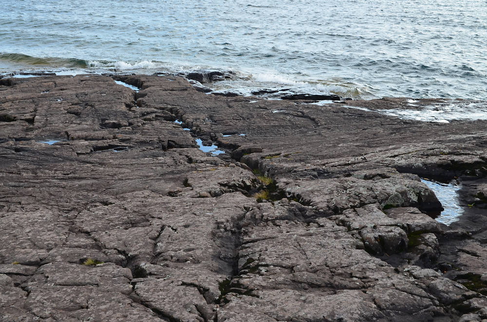 On the rocks in Two Harbors