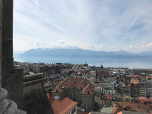 Lausanne from the cathedral tower