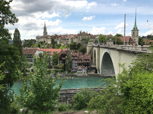 Bern, where we spent a week. The river is an amazing sea-glass green.
