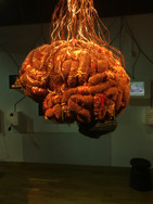 Brain sculpture at the Museum of Communication in Bern
