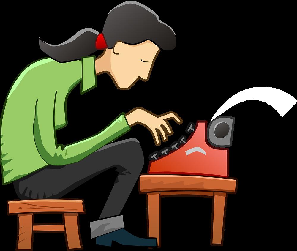 skeeze at Pixabay - typewriter-584696