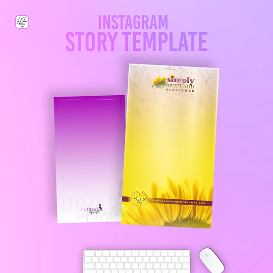 2 Instagram Story Post Templates
