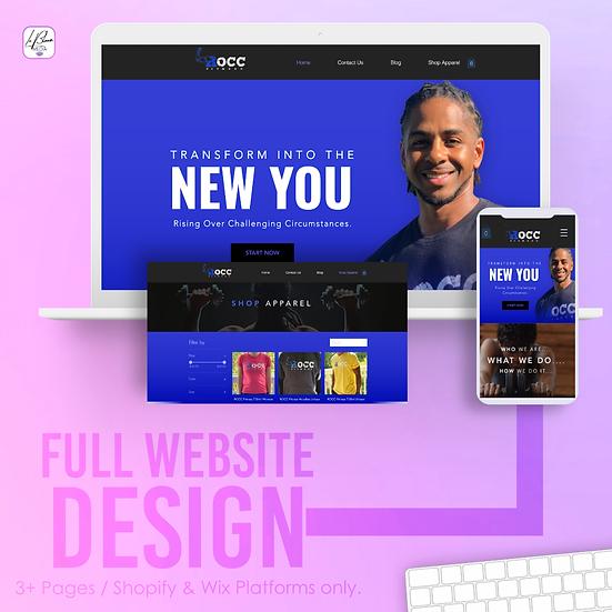 Full Wix/Shopify Website Design