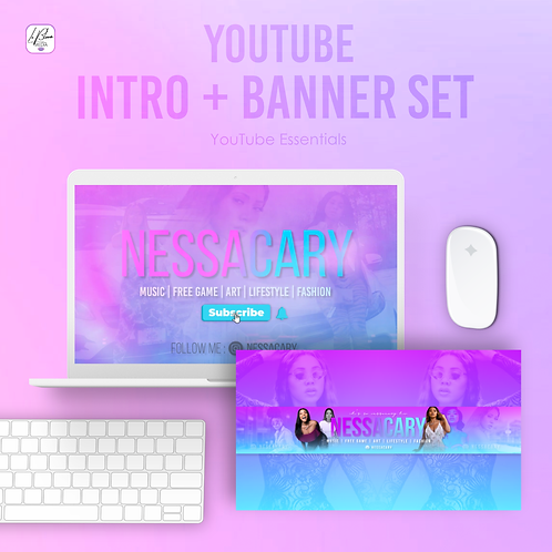 YouTube Intro and Banner Set