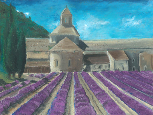 Provence - Oil Pastels