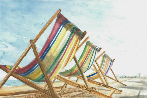 Deck Chairs - Watercolour