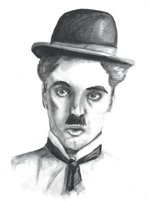 Charlie Chaplin - Pencil/Ink/Charcoal