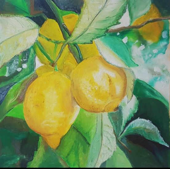 Lemons - Oil Pastel