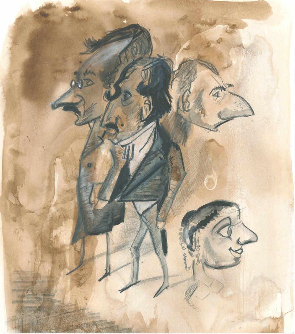 Monet Caricature
