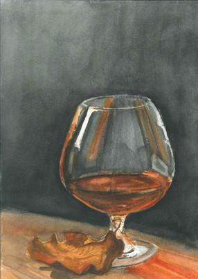 Brandy Glass- Watercolour