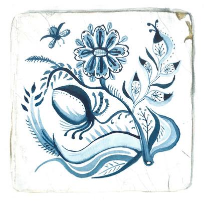 Delft Tile - Watercolour