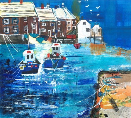 Collage Harbour - Acrylic