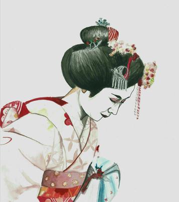 Geisha - Watercolour