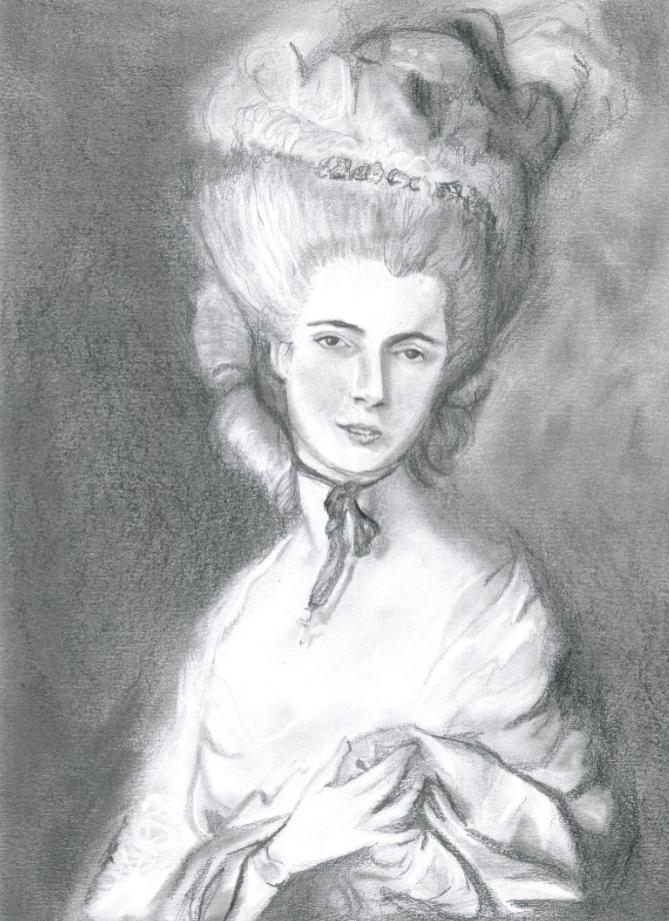 Lady In Blue - Gainsborough