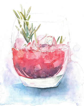 Cocktail - Watercolour
