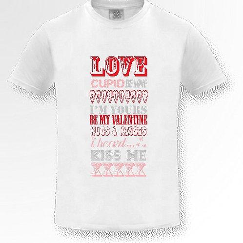 White Love T Shirt