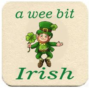 A Wee Bit Irish Cardboard Beermatt - Set of 6