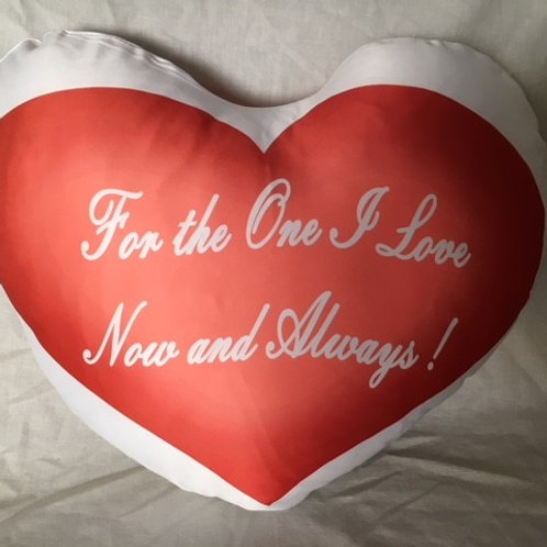 Heart Shape Cushion Cover and Pad