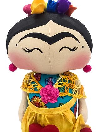 Peso para papel - Frida (cabelo pintado)