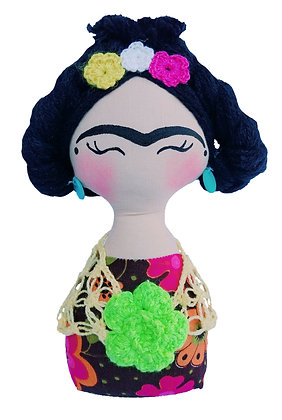 Peso para porta - Frida (Cabelo lã)