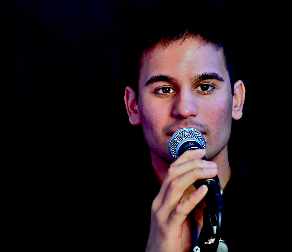 Photo of Peseroff prize-winning poet Josh Cake.