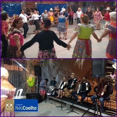 Fundação Nilo Coelho promoveu no Pátio de Eventos de sua Sede, animado São João com o os Idosos
