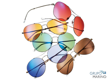 As cores das lentes dos óculos de sol