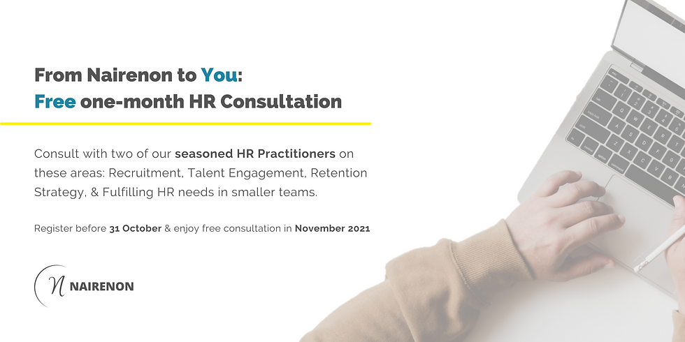 From Nairenon to You: Free one-month HR Consultation