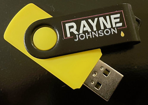 Rayne 4gb USB Thumb Drive pre loaded with songs & videos