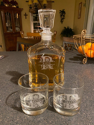 Rayne Decanter Set with 2 glasses